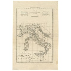 Antique Map of Italy by R. Bonne, circa 1780