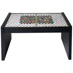 Rectangular Coffee Table by Jacques Lenoble and Jacques Adnet with a Ceramic Top