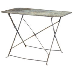 Early 20th Century French Painted Steel Garden Table