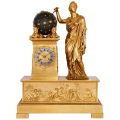 Large 19th Century Empire Ormolu Mantel Clock