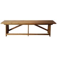 Late 19th Century Dutch Pinewood Bench