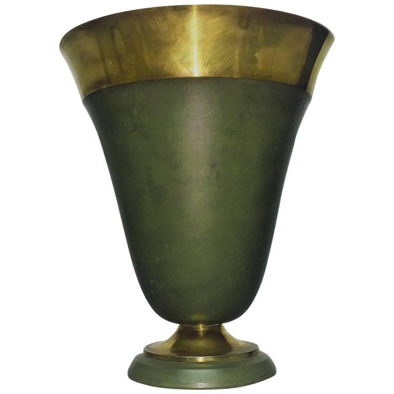 Art Deco Brass Table Lamp, France, circa 1920s