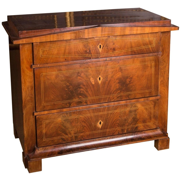 19th Century Original Biedermeier Commode with Mahogany, circa 1820