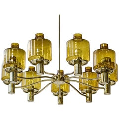 Nine Armed Chandelier by Hans Agne Jakobsson, Sweden, 1960s