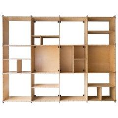 Swedish Plywood or Merom Flat-Pack Shelves, Stockholm, circa 1975