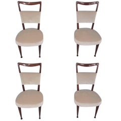 Four Osvaldo Borsani Rosewood Wood Chairs