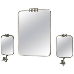 Mirror and Two Candleholders Designed by Nils Fougstedt for FAK, Sweden, 1933