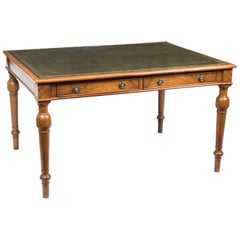 Vintage Victorian Style Walnut Writing Table Desk, 1930s