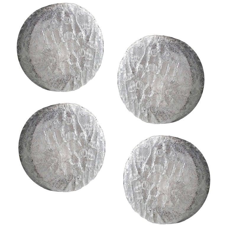 Set of Four Limburg Glass Sconces, 1960s