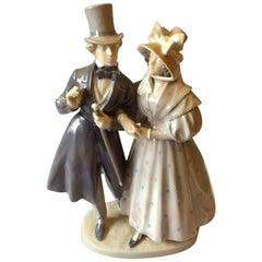 Royal Copenhagen Figurine Victorian Couple #1593