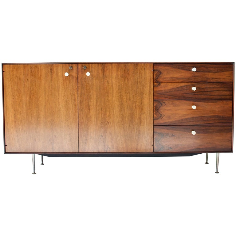 George Nelson Rosewood Thin Edge Cabinet
