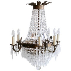 Early 20th Century French Tiered and Branch Chandelier