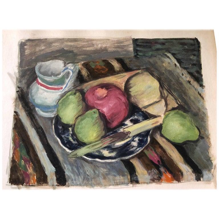 Still Life Watercolor Fruit Ensemble