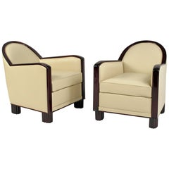 Pair of Art Deco Club Chairs by D.I.M 'Decoration Intérieure Moderne'