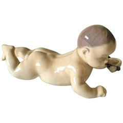 Royal Copenhagen Figurine Child, Crawling No 1739