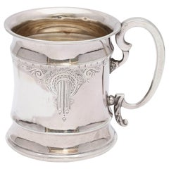 American Victorian Period Sterling Silver Etched Baby Cup/Mug