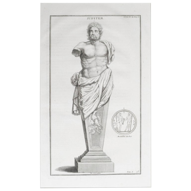 Jupiter a Copperplate Engraving For Sale