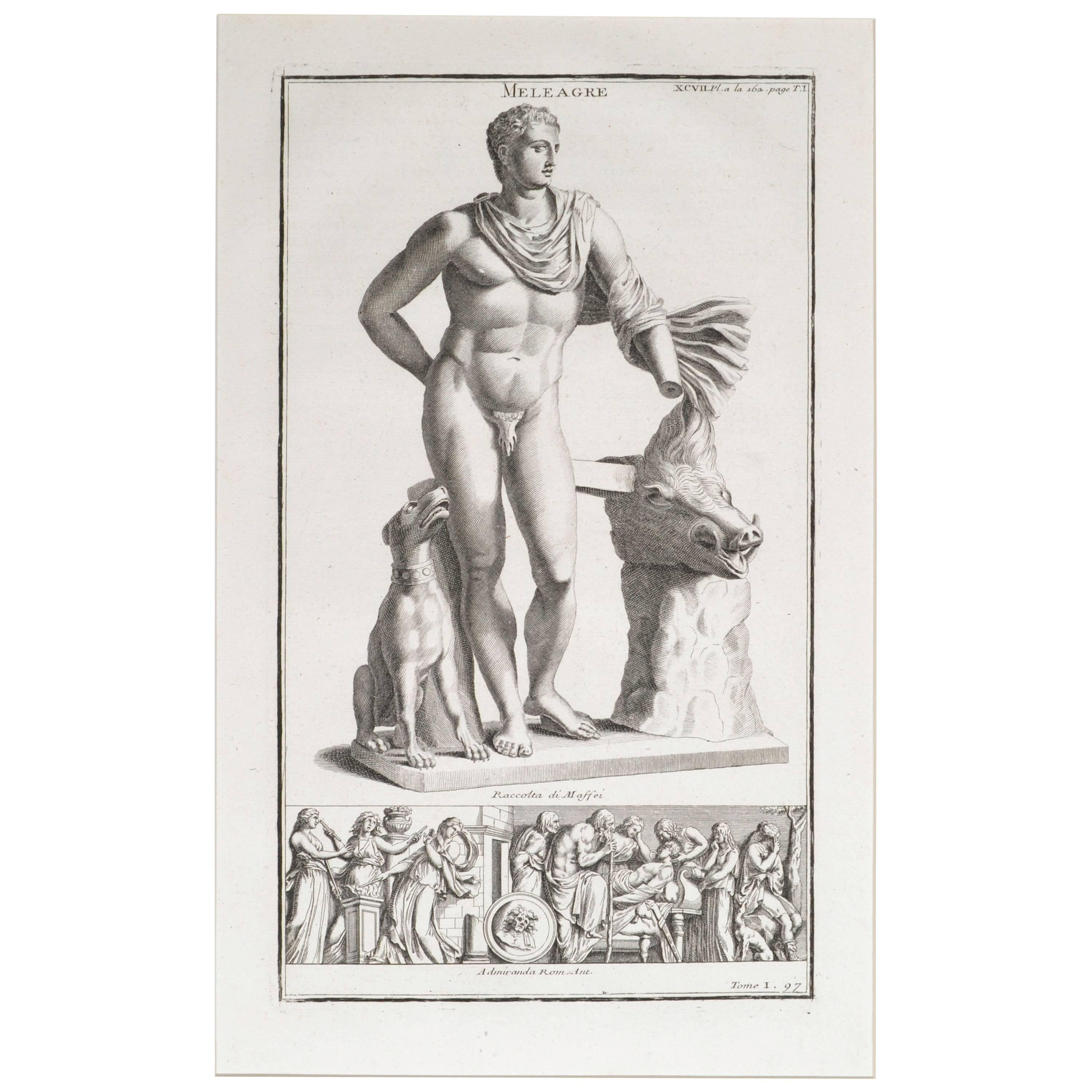 Meleager a Copperplate Engraving