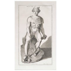 Mercury, a Copperplate Engraving