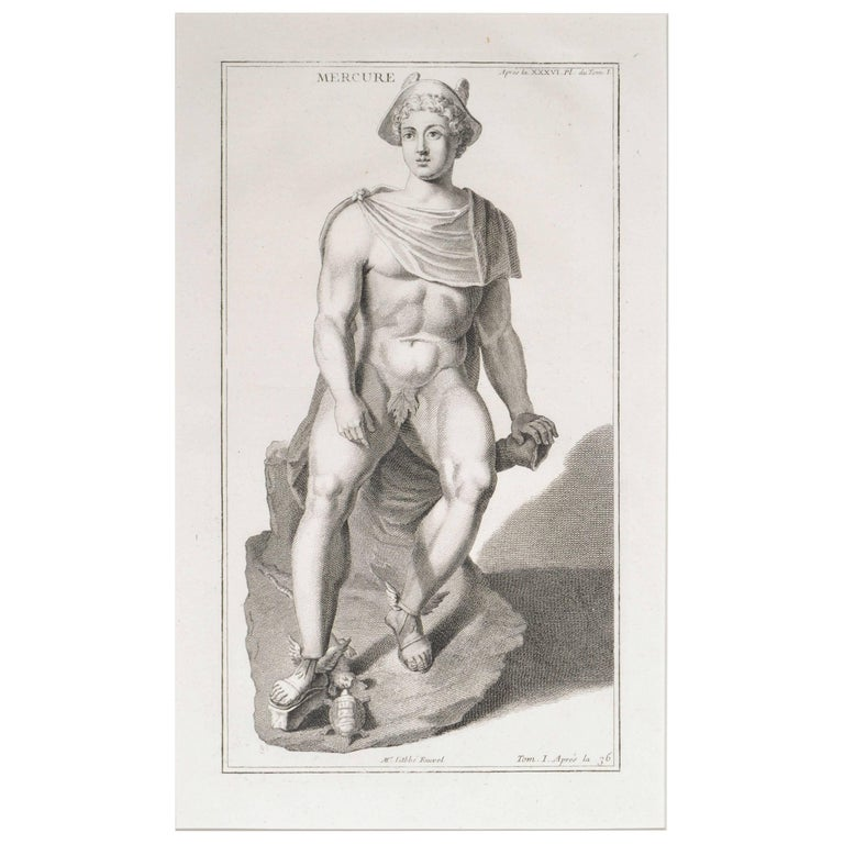 Mercury, a Copperplate Engraving For Sale