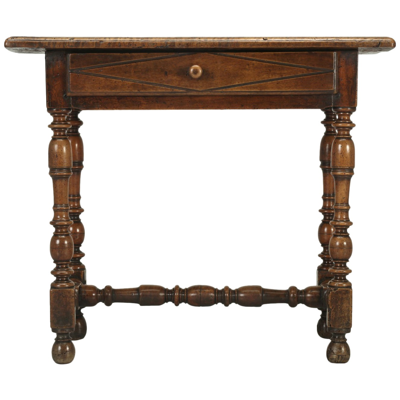 Antique Country French Side or End Table from the Early 1700s