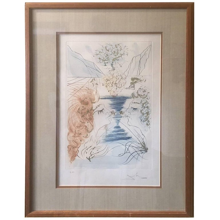 """""""Let Him Kiss Me with the Kisses..."""" Songs of Solomon Etching by Salvador Dali"""