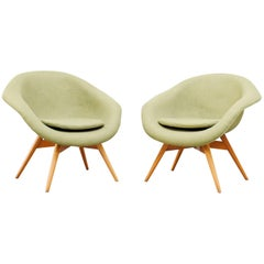 Pale Green Bucket Lounge Chair by Miroslav Navrátil for Vertex