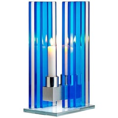 Candleholder Unified Light Tabletop Glass Aluminium Contemporary One of a Kind