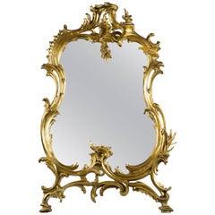 French Gilt Bronze Table Mirror, circa 1875