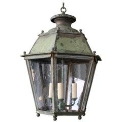 Antique Copper Hanging Lantern