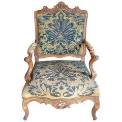 Regence Period Walnut Armchair