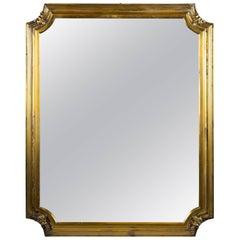 Large Austrian Silver Table Mirror, circa 1860