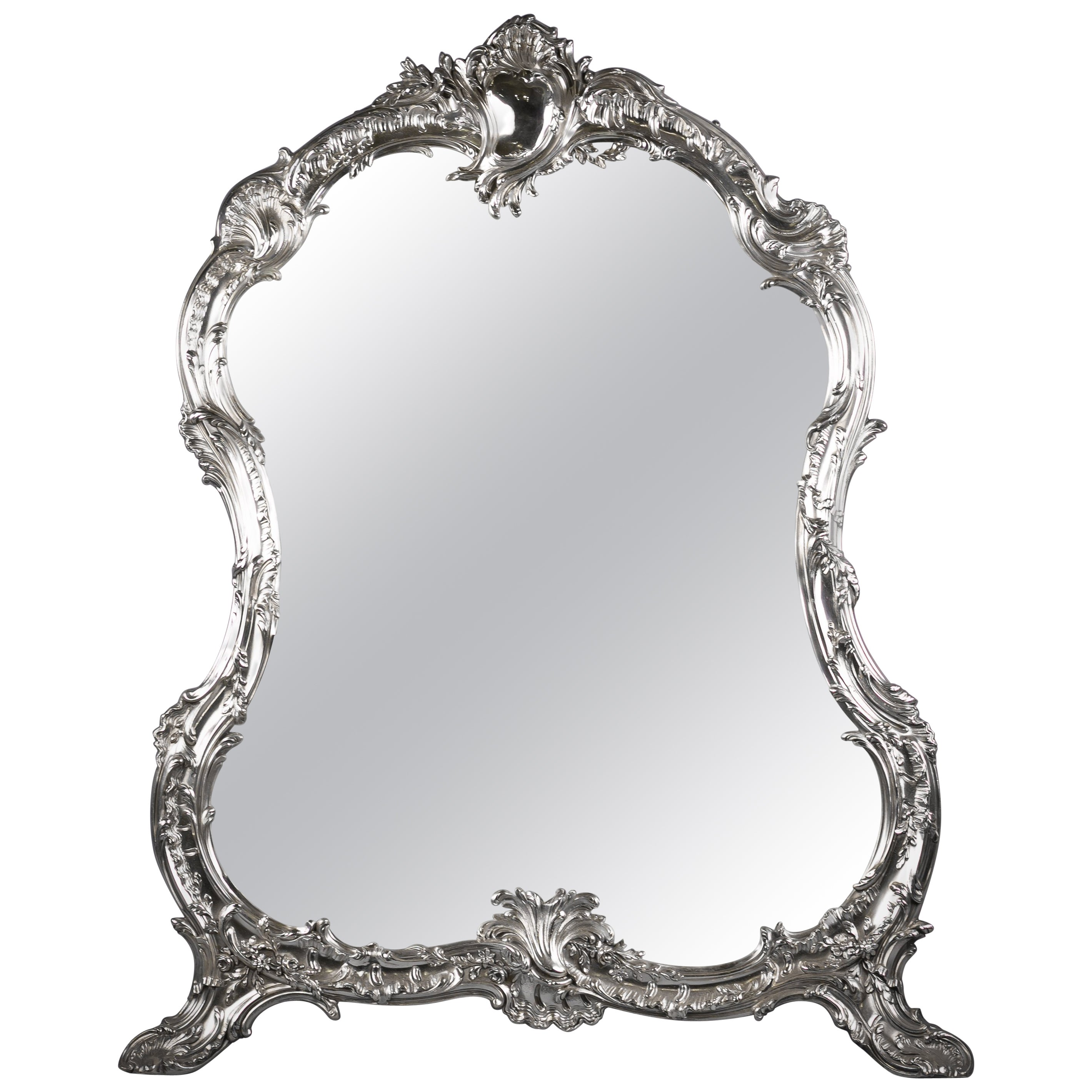 Large Continental Silver Table Mirror, circa 1880