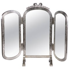 Sterling Silver Three-Part Dressing Mirror, Gorham, circa 1900
