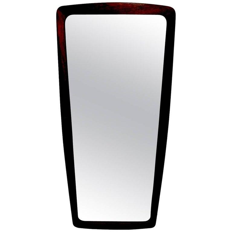 Rosewood Danish Modern Mirror by Jansen Spejle
