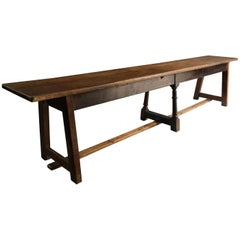 Antique Long Bench Seat Large Rustic, 19th Century Victorian, circa 1870