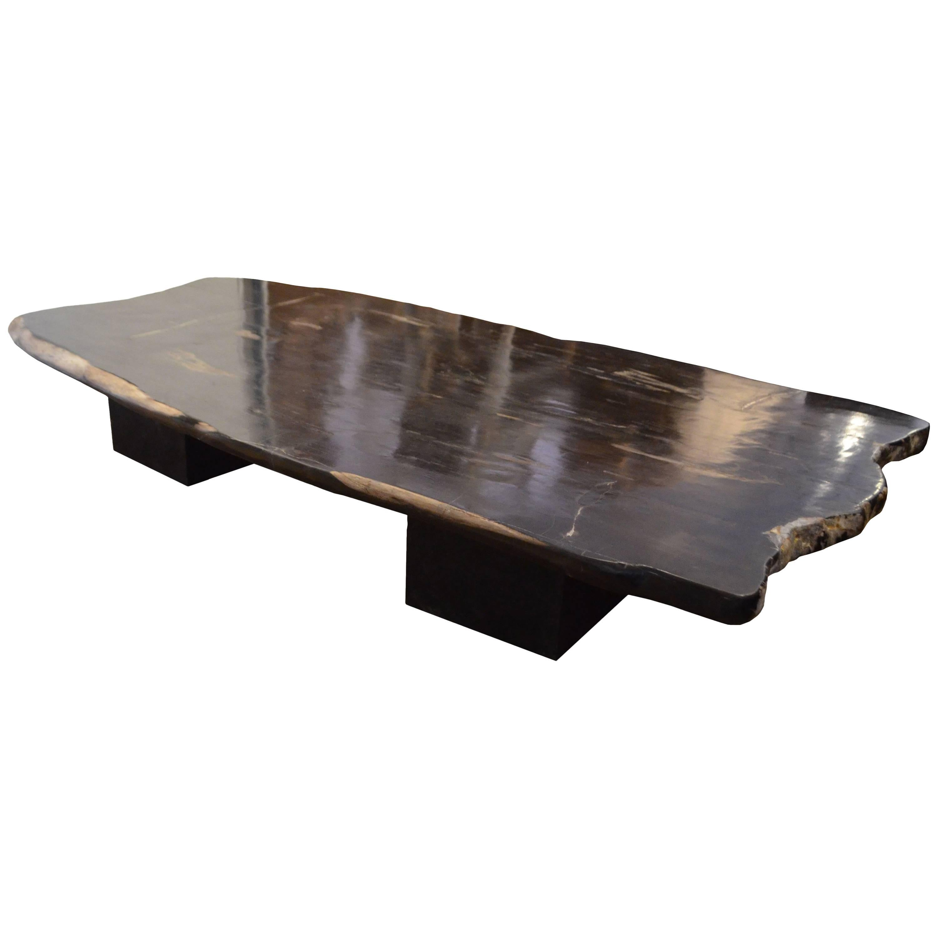 Good Andrianna Shamaris Super Smooth Petrified Wood Coffee Table Or Dining Table