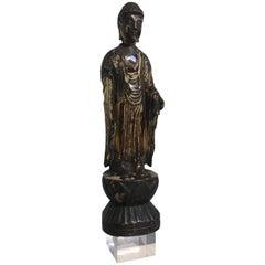 Japanese Edo Period Lacquered and Giltwood Buddha Amida Nyorai