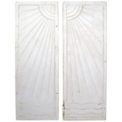 Pair of Art Deco Panels Removed from Art Deco Period Speakeasy Casino