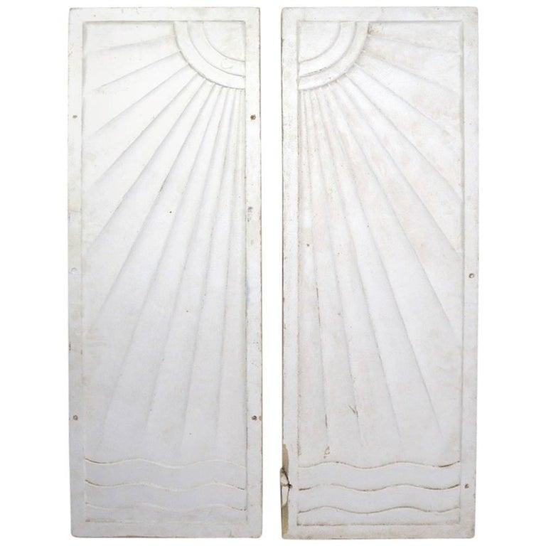 Pair of Art Deco Panels Removed from Art Deco Period Speakeasy Casino