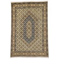 Vintage Persian Khorassan Rug with Repeating Herati Design