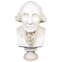 Faux Marble Bust of George Washington