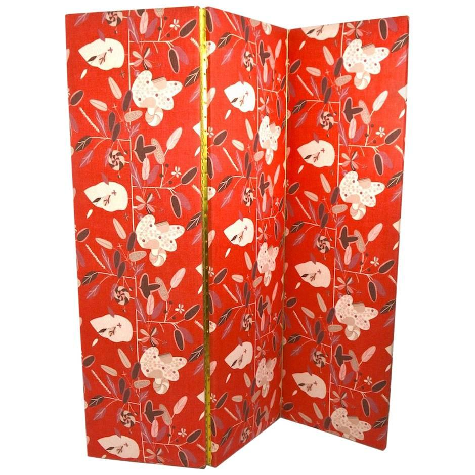 Decorative Three Panel Folding Room Divider, Dressing Screen
