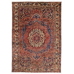 76567 Antique Persian Bakhtiari Rug with Traditional Modern Style