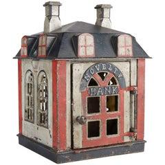 "Antique Mechanical Cast-Iron ""Novelty Bank"" by J.E. Stevens Orig Condition, 1873"