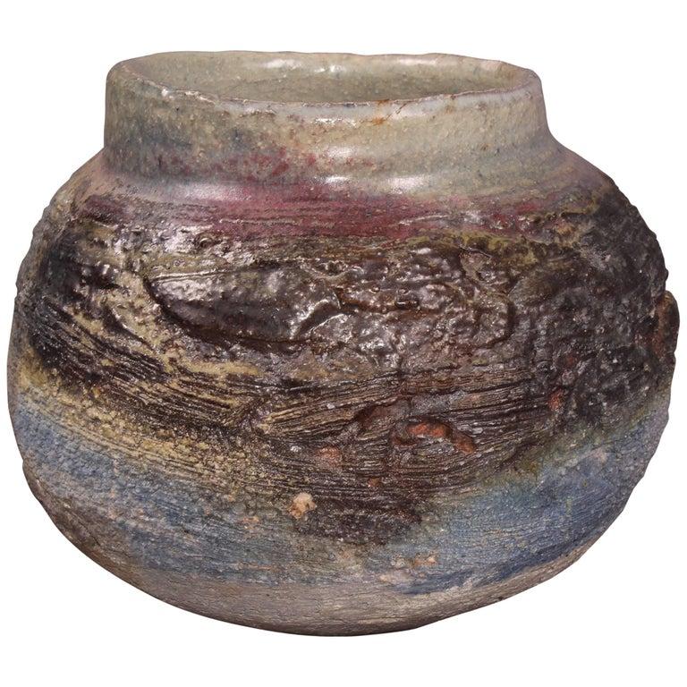 Round Colored Ceramic Vase