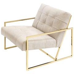 Matrix Armchair in Gold Finish