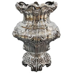 19th Century Italian Silver Barocco, Baroque Vase