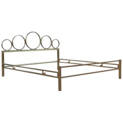 Bed Brass Luciano Frigerio 1970s Made in Italy Sculptural