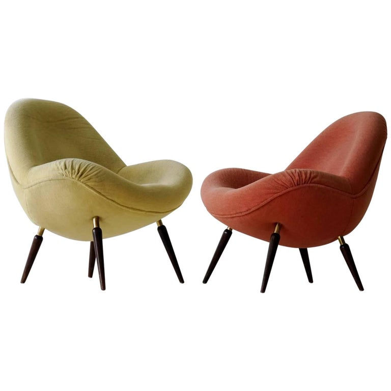 Set of Two Fritz Neth for Correcta, Armchair Lounge Easy Chair, 1950s, Germany